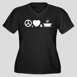 Soup Women's Plus Size V-Neck Dark T-Shirt