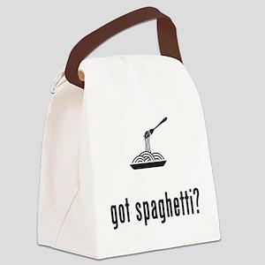 Spaghetti Canvas Lunch Bag