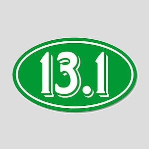 13.1 Half Marathon Oval Green Wall Decal