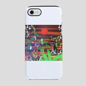 Jungle scene iPhone 7 Tough Case