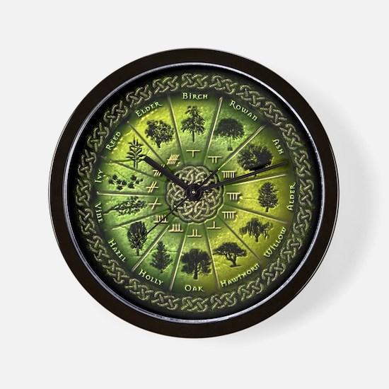 Druid Tree Calendar Wall Clock
