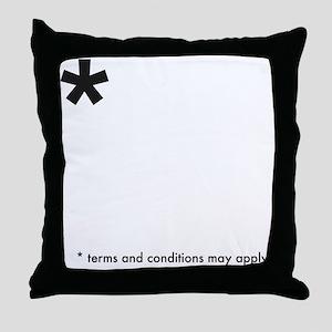 Asterisk (dark on light) Throw Pillow