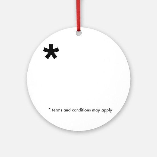 Asterisk (dark on light) Round Ornament