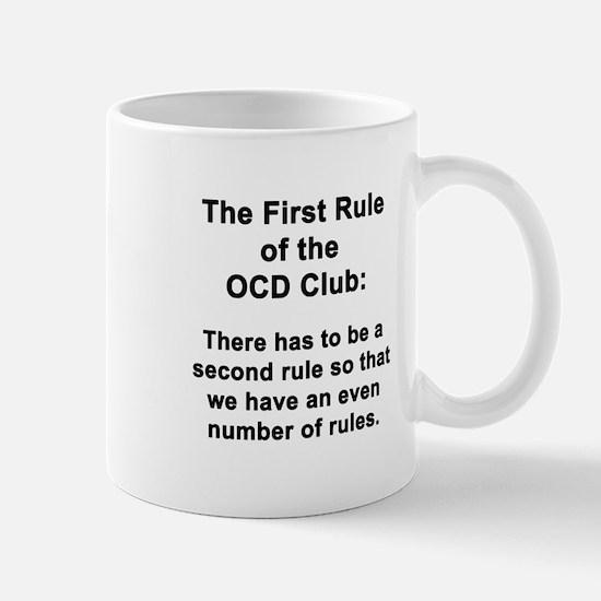 First Rule of the OCD Club Mug