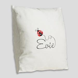 Ladybug Evie Burlap Throw Pillow