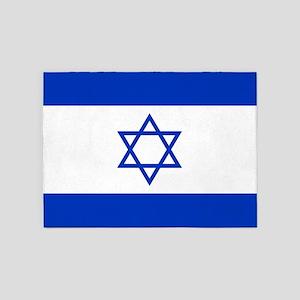 Flag Of Israel 5'x7'Area Rug