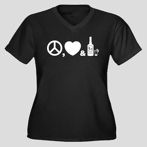 Tequila Women's Plus Size V-Neck Dark T-Shirt