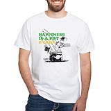 Peanuts st patricks day Mens Classic White T-Shirts