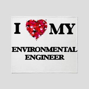 I love my Environmental Engineer hea Throw Blanket