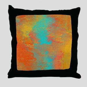 The Aqua River Throw Pillow