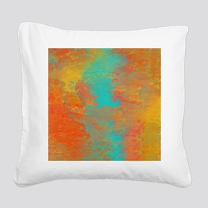 The Aqua River Square Canvas Pillow