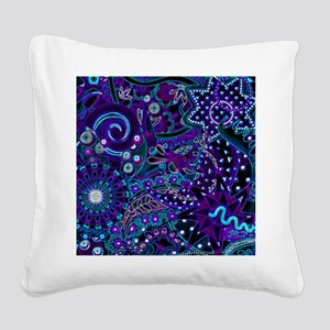 Blue Lights Square Canvas Pillow