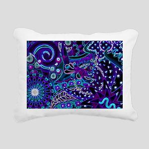 Blue Lights Rectangular Canvas Pillow