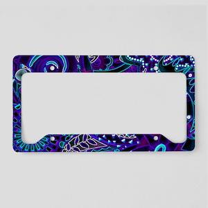 Blue Lights License Plate Holder