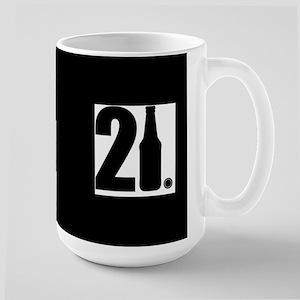 21 beer bottle Large Mug