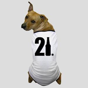 21 beer bottle Dog T-Shirt