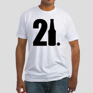 21 beer bottle Fitted T-Shirt