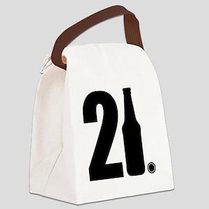 21 beer bottle Canvas Lunch Bag