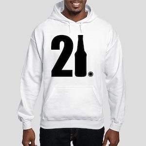 21 beer bottle Hooded Sweatshirt