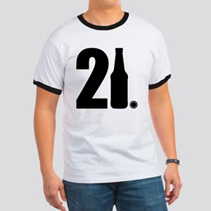 21 beer bottle Ringer T