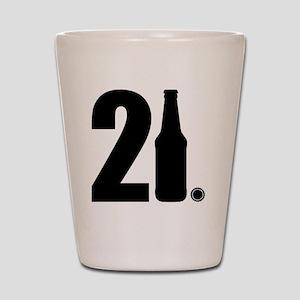21 beer bottle Shot Glass