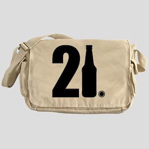 21 beer bottle Messenger Bag