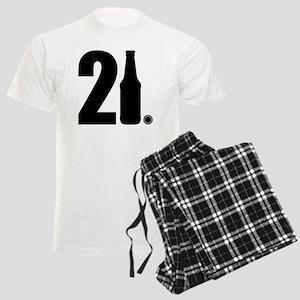 21 beer bottle Men's Light Pajamas