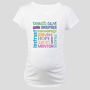Teacher subway art Maternity T-Shirt