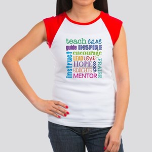 Teacher subway art Junior's Cap Sleeve T-Shirt