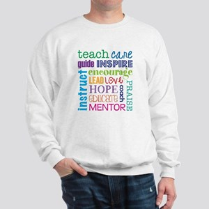 Teacher subway art Sweatshirt