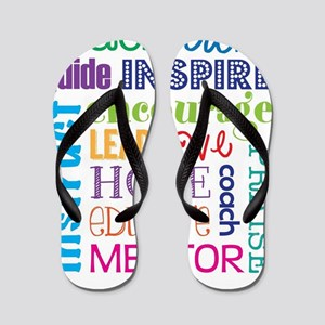 Teacher subway art Flip Flops
