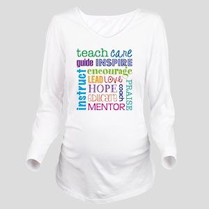 Teacher subway art Long Sleeve Maternity T-Shirt