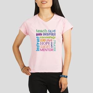 Teacher subway art Performance Dry T-Shirt