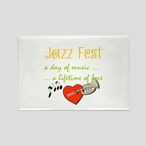 Jazz Fest Love 2007 Rectangle Magnet
