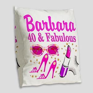 40TH PARTY GIRL Burlap Throw Pillow