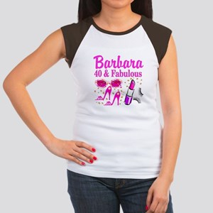 40TH PARTY GIRL Junior's Cap Sleeve T-Shirt