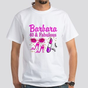 40TH PARTY GIRL White T-Shirt