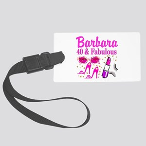 40TH PARTY GIRL Large Luggage Tag