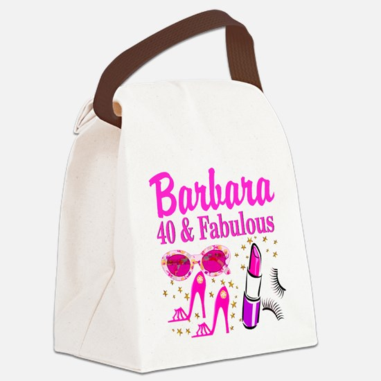 40TH PARTY GIRL Canvas Lunch Bag