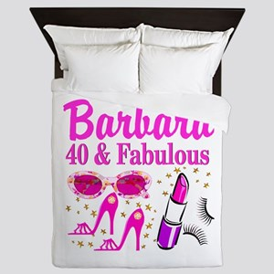 40TH PARTY GIRL Queen Duvet