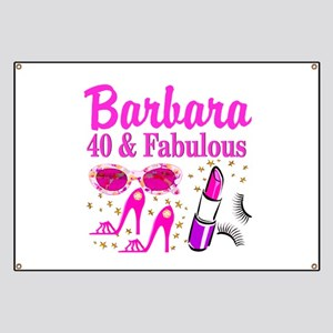 40TH PARTY GIRL Banner