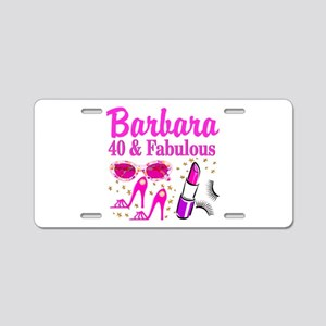 40TH PARTY GIRL Aluminum License Plate