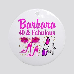 40TH PARTY GIRL Ornament (Round)
