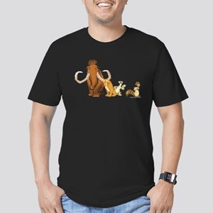 Ice Age 8-Bit Group Men's Fitted T-Shirt (dark)