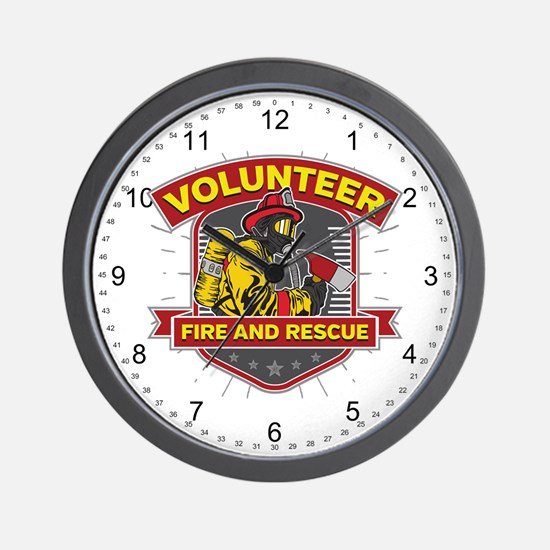Fire and Rescue Volunteer Wall Clock