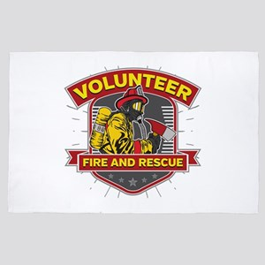 Fire and Rescue Volunteer 4' x 6' Rug