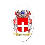 MacLese Oval Car Magnet