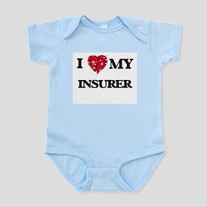 I love my Insurer hearts design Body Suit