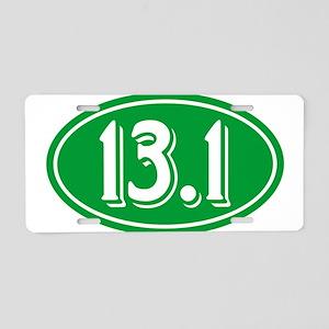 13.1 Half Marathon Oval Green Aluminum License Pla