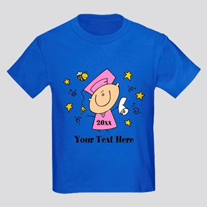 Cute Girl Graduate Kids Dark T-Shirt